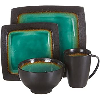 Gibson Elite 16 Piece Dinnerware Set  sc 1 st  Amazon.com & Amazon.com | Baum Galaxy Jade 16-pc. Dinnerware Set: Dinnerware Sets