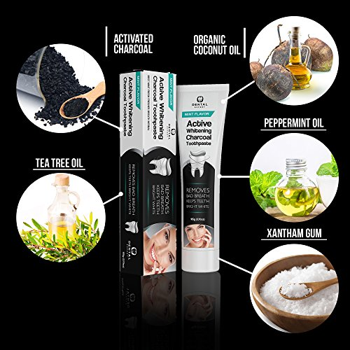 Dental Expert Activated Charcoal Teeth Whitening Toothpaste - Mint Flavor - (0.7 fl oz) by Dental Expert (Image #7)