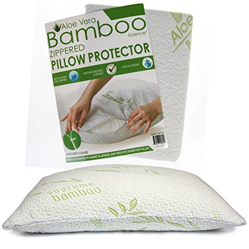 Bamboo Essence Zippered Pillow Protector product image