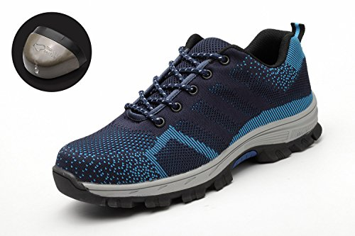 Work Protection Blue Mens Womens Trainers Hiker Cap Midsole Steel Safety Toe Shoes Lightweight qfRa0Pq
