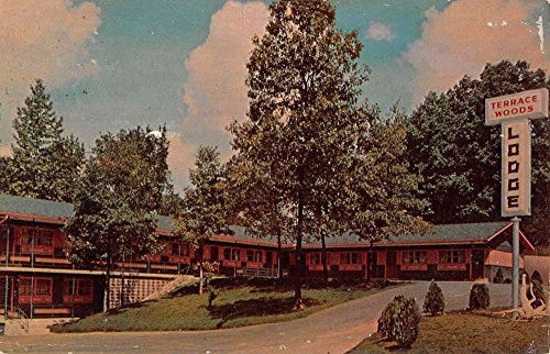 Paris Tennessee Terrace Woods Lodge Street View Vintage Postcard K62795