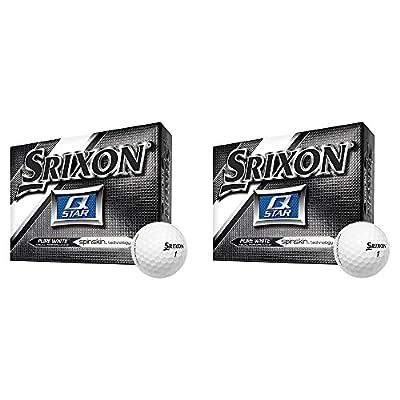 Srixon Q-Star Spin Skin Technology All-Ability Pure White Golf Balls, 2 Dozen