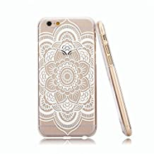 For Iphone 6 case, Let it be Free Henna Ojibwe Dream Catcher Ethnic Tribal Plastic Case Cover for Iphone 6 4.7 Inch Scree-Dream (Not for Iphone 6 Plus)-Henna White Flower
