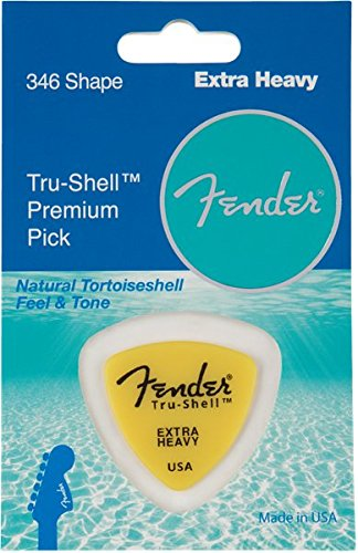 (Fender 346 Shape Picks, Tru-Shell, Extra Heavy for electric guitar, acoustic guitar, mandolin, and bass )
