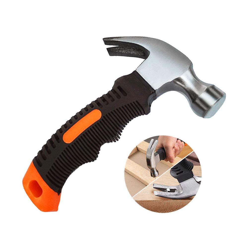 mango c/ómodo y suave Kitchen-dream Mini martillo multifuncional de garra con removedor de clavo magn/ético cabezal de pulido brillante y fino
