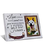 ammees Pet Keepsake Frame, Pet Memorial Picture Frame, Cat Photo Frame, Dog Photo Frame, Dog Memorial Sentiment Frame for Loss of Dog Gifts, Collar Mount, Loving Remembrance Message