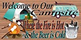 Cheap Welcome to Our Campsite – RV Sign – Camping Sign