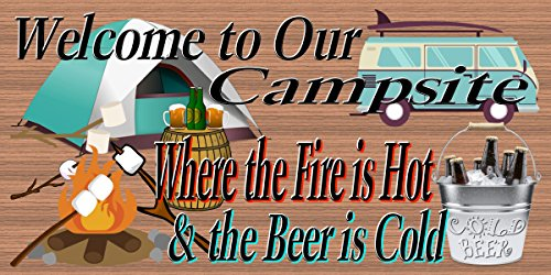Welcome to Our Campsite – RV Sign – Camping Sign