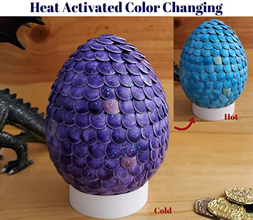 Color Changing Dragon Egg 4 inch Purple to Blue