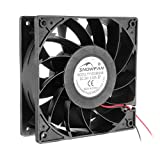 uxcell 120mm x 38mm 24V DC 12cm Cooling Fan, 4000RPM High Speed, 185 CFM Airflow