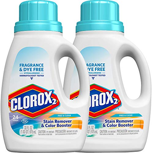 Clorox 2 Liquid Concentrated Color Safe Bleach - Free & Clear - 33 oz - 2 pk