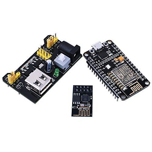 for Arduino , Kuman NodeMCU LUA WiFi Internet ESP8266 Serial Development board + Wifi Wireless Transceiver Module Esp-01 + Breadboard Power Supply Module 3.3V/5V For Arduino Uno Board KY60 KY60-US