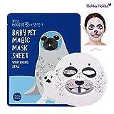 Sheet Mask for Whitening [Holika Holika] Baby Pet Magic Mask Sheet 22ml #Whitening Seal (10 Sheet)