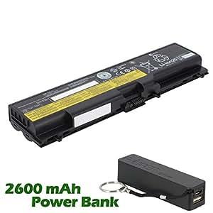 Battpit Bateria de repuesto para portátiles Lenovo ThinkPad T510i 4339 (4400 mah) con 2600mAh Banco de energía / batería externa (negro) para Smartphone
