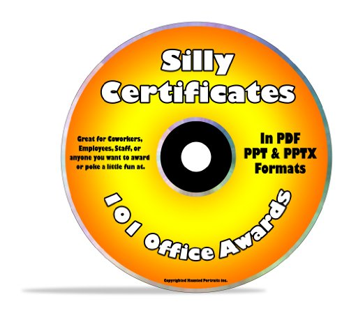 Silly Certificate Software – Customize and Print 101 Fun Office Awards – FREE Bonus If You Order Now