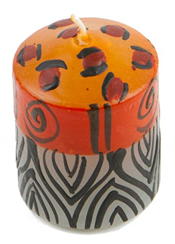 Nobunto, Votive candle Uzima handmade made in Africa hand-painted African candle in different designs