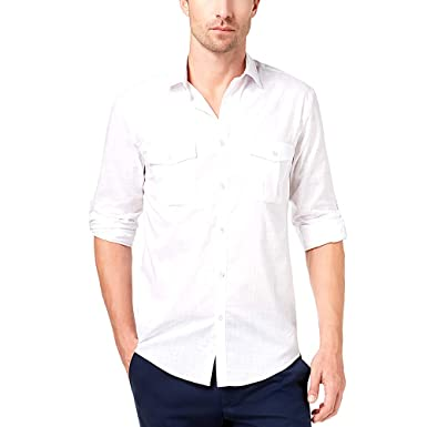 2cd19bd2a81 Image Unavailable. Image not available for. Color  Alfani Men s Warren Long  Sleeve Shirt ...