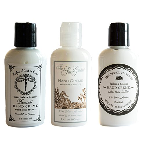 Kiss Me In The Garden Travel-Size Hand Creme Gift Set – Demoiselle, Sea Garden and Grateful Nature Scents