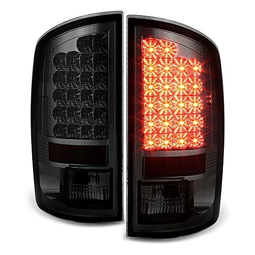 ACANII - For 2002-2006 Dodge Ram 1500 03-06 Ram 2500 3500 Smoke Lumiled LED Rear Tail Lights Brake Lamps Pair Left+Right
