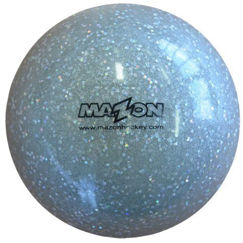 Mazon Smooth Field Hockey Ball (Glitter Silver, 1 Ball) ()
