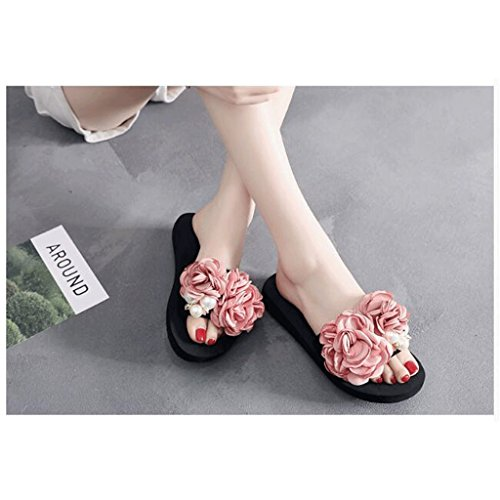 Sandalias Tama o UK de modulares Verano Zapatos Playa Chanclas Use 5 de Femeninas Suela 0 Gruesa de Zapatillas 5H6Oqwp