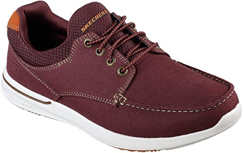 Men's Mosen Elent Fit Skechers Shoe Burgundy Boat Relaxed B1nSqxqwT