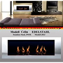Bio- Ethanol and Fire Gel Fireplace Model Celin - Choose from 6 colors (Stainless Steel) by Gel + Ethanol Fire-Places