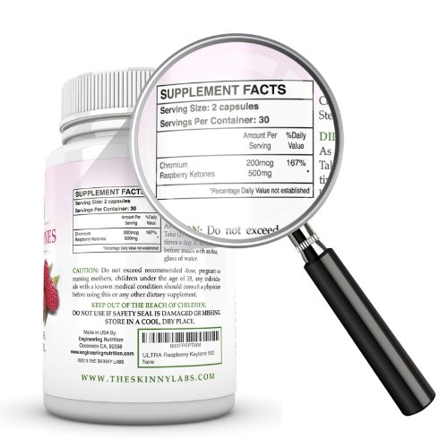 Raspberry Ketones: 500mg per seving   MAXIMUM Weight Loss Supplement and Appetite Suppressant