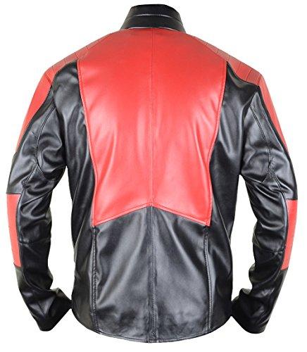 MSHC Black Superman V1 Jacket Fitted Smallville Leather Jacket Black & Red (Large) by MSHC (Image #1)