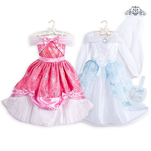 [Disney Kids Cinderella Costume Set 4-Piece Size 9/10 Multi] (Princess Bride Halloween Costumes)