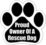 """""""Proud owner of a rescue dog"""" Car Magnet"""