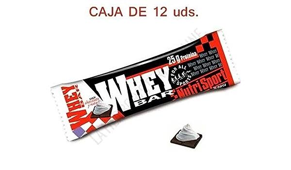 Whey Barritas Nata 12 unidades de Nutrisport: Amazon.es ...