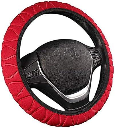 Cikuso Volante Car Cover Intrecciato Rotella Handle Ice Seta Set Spugna Auto Protector Universale Interno Volante Copriauto Accessori Interni Beige