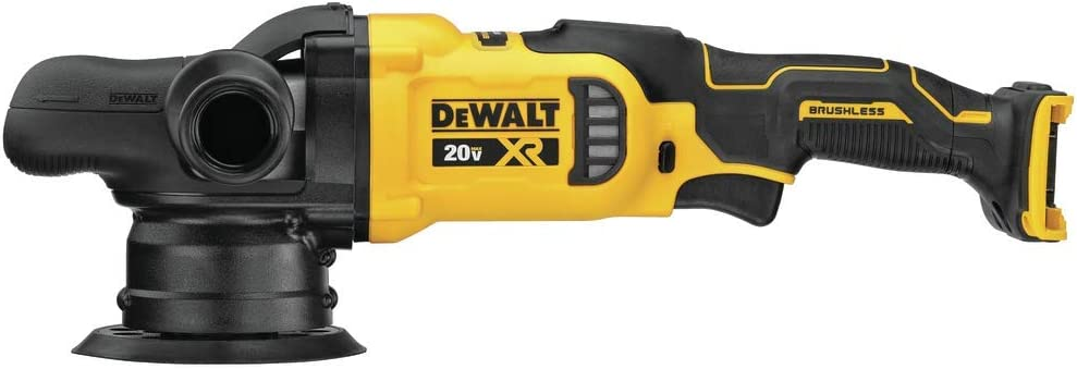 DEWALT 20V MAX XR Cordless Polisher, Variable-Speed, Random Orbit, 5-Inch, Tool Only (DCM848B) - -