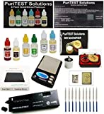 Digital Scale + Electronc Diamond Detector + Gold/Silver/Platinum Testing Kit + PRO Test Stone + Eye Loupe + 10pcs File Tool Set + Real Solid Silver/Plated Fake Gold