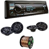 Kenwood KDC-BT858U CD Player Bluetooth USB Receiver With Crunch CS653 6.5 Inch 3-Way Speaker (Pair), Crunch CS693 6 Inch x 9 Inch 3-Way Car Speaker (Pair), Enrock Audio 16-Gauge 50 Foot Speaker Wire