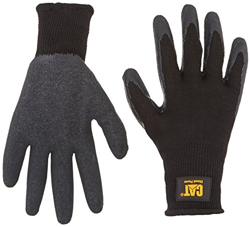 Black Pvc Coated Gloves - 6