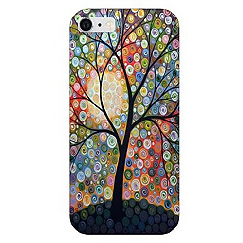 York Painted Garden (Inonler Romantic gardens, colorful nights, painted trees pattern case for iPhone 5C,brown case)