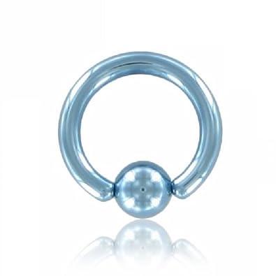 5b72c1de3 eeddoo Titanium - BCR Ball Closure Ring - Light Blue 1,2 mm 6 mm 4 mm:  Amazon.co.uk: Jewellery