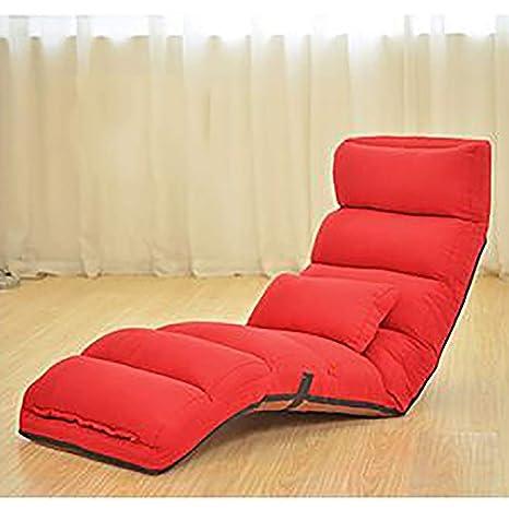 Lovehouse Piso Ajustable Silla Plegable sofá tresillo,Silla del multiangle Piso cómodo Tatami Perezoso de
