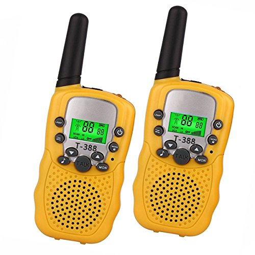 Toys for 3-12 Year Old Boys, DIMY Walkie Talkies for Kids Toys for 3-12 Year Old Girls Yellow DJ03