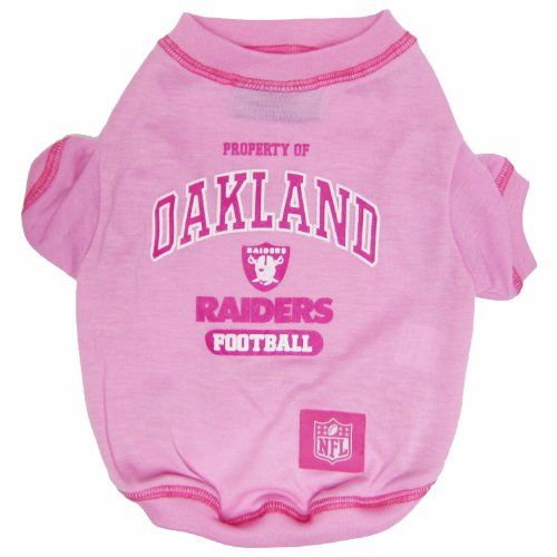 OAKLAND RAIDERS Pink Dog T-Shirt, Small. - Football Sports Fan Pet Shirt.