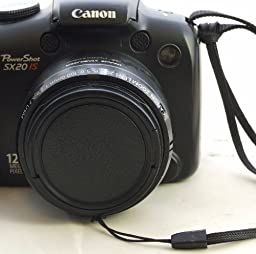 Lens Cap with String Leash Strap for Canon Powershot SX10IS, SX10, SX20IS, SX20, and IS Digital Camera - The Camera Hunter Replacement