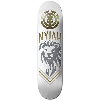 Amazon com : Element Nyjah Huston White Lion Skateboard Deck