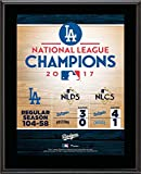 "Los Angeles Dodgers 2017 MLB National League Champions 10.5"" x 13"" Sublimated Plaque - MLB Team Plaques and Collages"