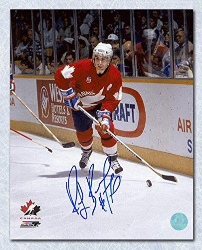 Autographed Ray Bourque Photograph - Canada Cup 8x10 Team Canada - Autographed NHL Photos