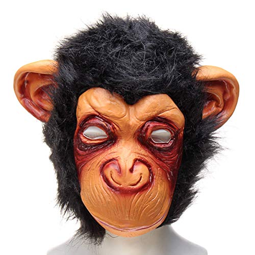 Leno Halloween Adult Animal Chimp Monkey Ape Mask Fancy Dress Costume Party Accessory