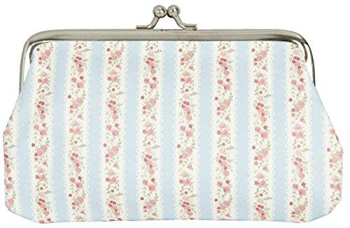 FAP0103L Clayre & Eef - Borsellino - Potafolglio - Blu - A fiori - Strisce ca. 18 cm