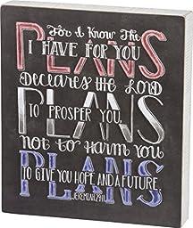 PBK Inspirational Decor - Chalkboard Sign Plans For you Jeremiah 29:11 #29884