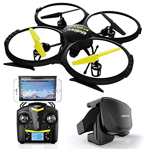UDI U818A FPV HD+ Discovery WiFi - Updated Drone with FPV WiFi - 2.4GHz 4 CH 6 Axis Gyro RC Quadcopter with HD Camera RTF Includes Bonus Battery (Doubles Flying Time)